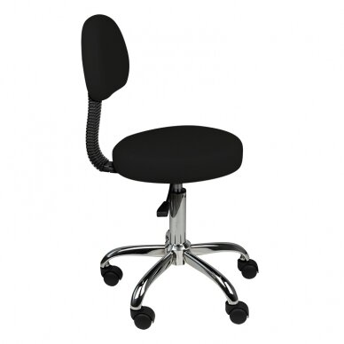 Meistara krēsls STOOL ROUND COMFORT BACK BLACK 4