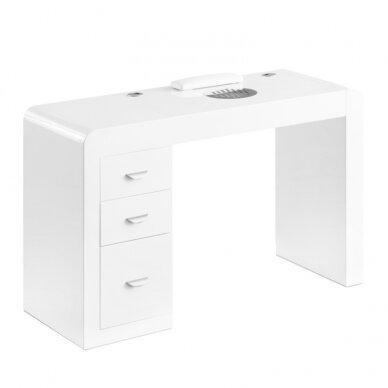 Manikiūro stalas su dulkių surinkėju IDEAL COSMETIC WHITE