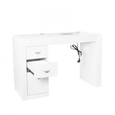Manikiūro stalas su dulkių surinkėju IDEAL COSMETIC WHITE 2