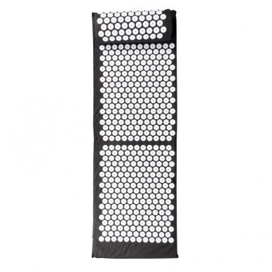 Akupresūras masāžas paklājs 130x43cm + Akupresūras masāžas spilvens BLACK (1) 3