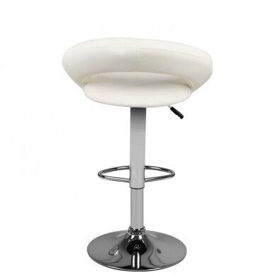 Baro kėdė VIVA ECO LEATHER CHROME WHITE 3