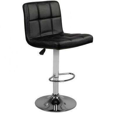 Bāra krēsls TERRAIN ECO LEATHER CHROME BLACK