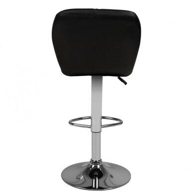 Bāra krēsls TERRAIN ECO LEATHER CHROME BLACK 2