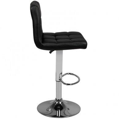 Bāra krēsls TERRAIN ECO LEATHER CHROME BLACK 3