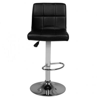 Bāra krēsls TERRAIN ECO LEATHER CHROME BLACK 4