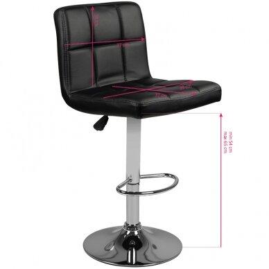 Bāra krēsls TERRAIN ECO LEATHER CHROME BLACK 5