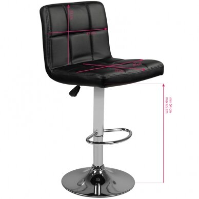 Baro kėdė TERRAIN ECO LEATHER CHROME BLACK 5