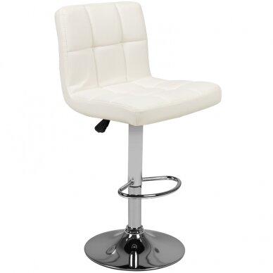 Bāra krēsls TERRAIN ECO LEATHER CHROME WHITE