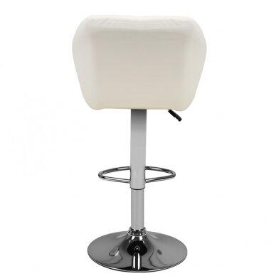 Bāra krēsls TERRAIN ECO LEATHER CHROME WHITE 2