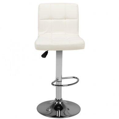 Bāra krēsls TERRAIN ECO LEATHER CHROME WHITE 4