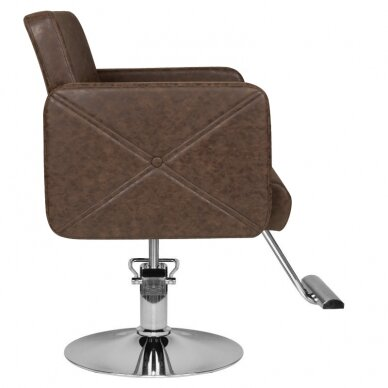 Kirpyklos kėdė HAIRDRESSING CHAIR MODEL A BROWN 2