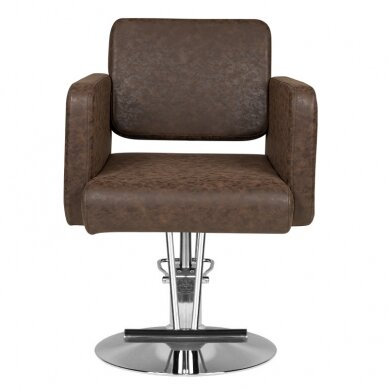 Kirpyklos kėdė HAIRDRESSING CHAIR MODEL A BROWN 3
