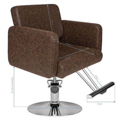 Kirpyklos kėdė HAIRDRESSING CHAIR MODEL A BROWN 4