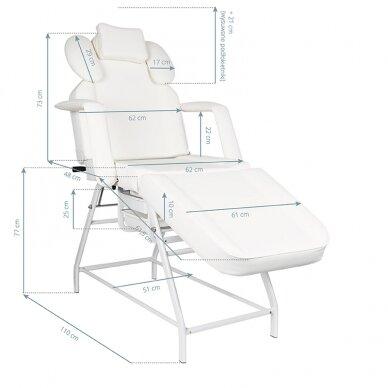 Kosmetologinis krėslas VISAGE WHITE 3