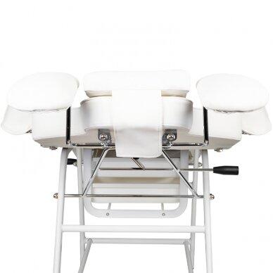 Kosmetologinis krėslas VISAGE WHITE 9