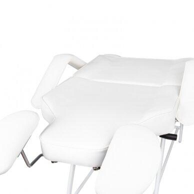 Kosmetologinis krėslas VISAGE WHITE 12
