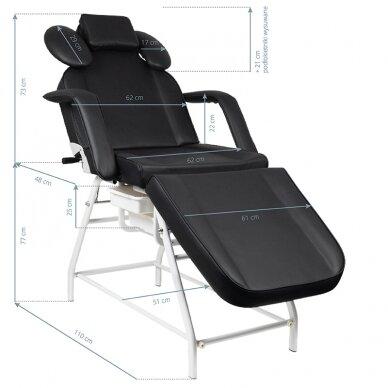 Kosmetologinis krėslas VISAGE BLACK 2