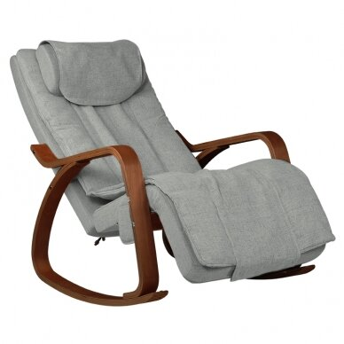 Šūpojošs masāžas krēsls SHIATSU RELAX GREY