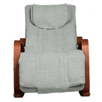 Supamas masažinis krėslas SHIATSU RELAX GREY 2