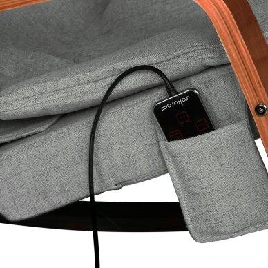 Šūpojošs masāžas krēsls SHIATSU RELAX GREY 5