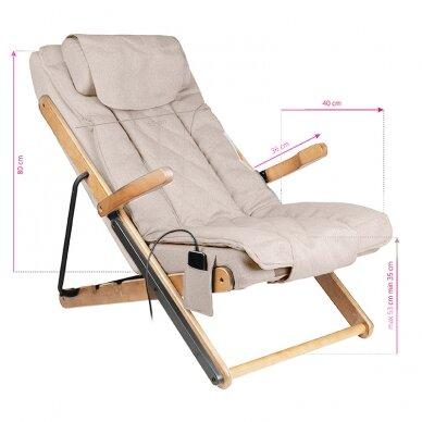 Saliekams masāžas krēsls SHIATSU RELAX FOLD BEIGE 8