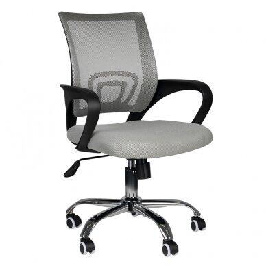 Biuro kėdė ant ratukų OFFICE CHAIR ECO COMFORT BLACK/GRAY