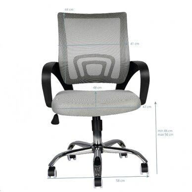 Biroja krēsls uz riteņiem OFFICE CHAIR ECO COMFORT BLACK/GRAY 5