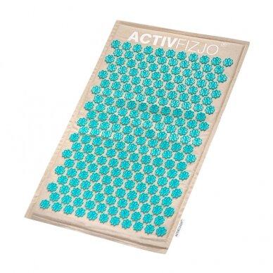 Akupresūros masažinis kilimėlis 70x42cm + Akupresūros masažinė pagalvė 39x25cm PREMIUM BEIGE 4