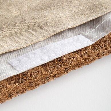 Akupresūros masažinis kilimėlis 70x42cm + Akupresūros masažinė pagalvė 39x25cm PREMIUM BEIGE 6