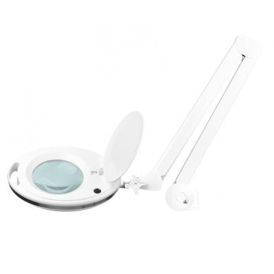 Kosmetologinė LED lempa su lupa ir stovu su ratukais 10W 3