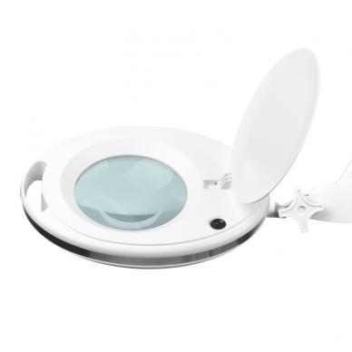 Kosmetologinė LED lempa su lupa ir stovu su ratukais 10W 4
