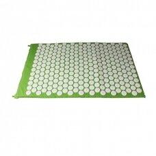 Akupresūros masažinis kilimėlis, 40x60cm GREEN (M)