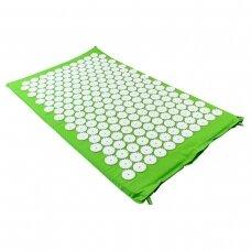 Akupresūros masažinis kilimėlis, 43x74cm GREEN