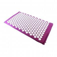 Akupresūros masažinis kilimėlis, 43x74cm PINK
