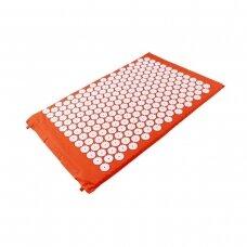 Akupresūros masažinis kilimėlis, 40x67cm ORANGE