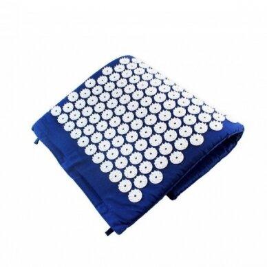 Akupresūros masažinis kilimėlis, 40x60cm BLUE 3