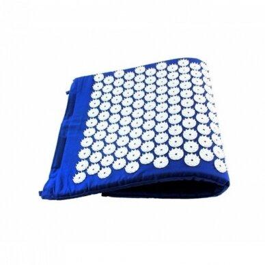 Akupresūros masažinis kilimėlis, 40x60cm BLUE 2