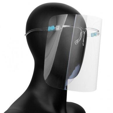 Aizsargājošs sejas vairogs SUPER LIGHT (briļļu rāmji + aizsargājošs vairogs) (1 gab.)