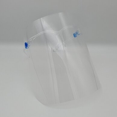 Aizsargājošs sejas vairogs SUPER LIGHT (briļļu rāmji + aizsargājošs vairogs) (1 gab.) 3