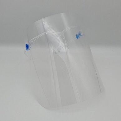 Apsauginis veido skydelis SUPER LIGHT (akinių rėmeliai + apsauginis skydelis) (1 vnt.) 3