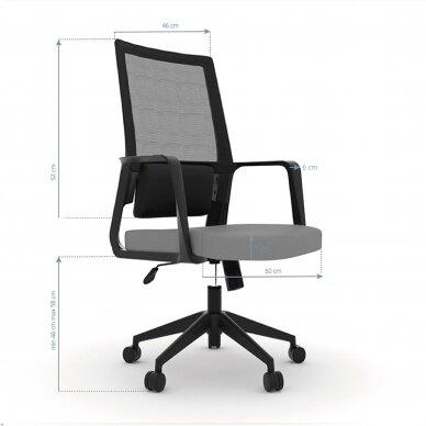 Biroja krēsls uz riteņiem OFFICE CHAIR COMFORT BLACK/GRAY 4
