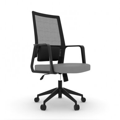 Biuro kėdė ant ratukų OFFICE CHAIR COMFORT BLACK/GRAY