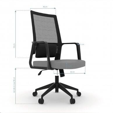Biroja krēsls uz riteņiem OFFICE CHAIR COMFORT BLACK/GRAY 2