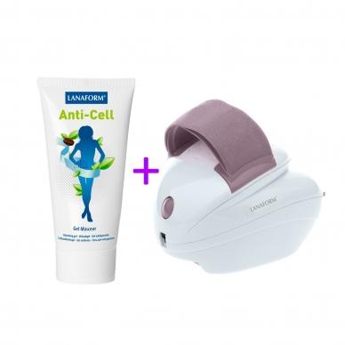 Celulīta masāžas ierīce Lanaform Skin Mass + Anti-celulīta gēls ANTI-CELL GEL (200ml)