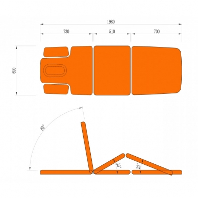 Elektriskās masāžas galds CAMINO TREATMENT AGATE BLUE 10