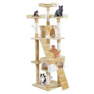 Kačių namelis - draskyklė 170cm BEIGE