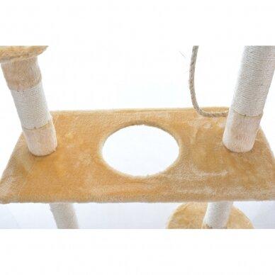 Kačių namelis - draskyklė 150cm BEIGE 4