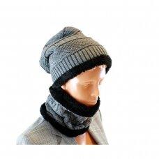Kepurė, šalikas (rinkinys) UNISEX SET GREY