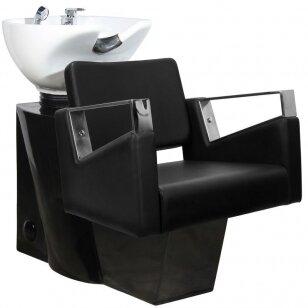Friziera izlietne GABBIANO PROFESSIONAL HAIRWASHER BLACK BASE BLACK SEAT