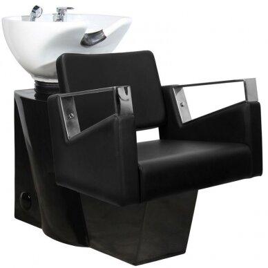 Juuksuri valamu GABBIANO PROFESSIONAL HAIRWASHER BLACK BASE BLACK SEAT